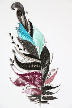 paper quilling - feather http://blog.naver.com/101kaikei