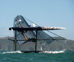 America's Cup: Catamarans capsize during racing in strong winds off Plymouth - Telegraph scary stuff Sailing Catamaran, Yacht Boat, Sailing Ships, Sail Racing, Sailboat Racing, Float Your Boat, Set Sail, Wooden Boats, Tall Ships