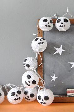 DIY Paper Lantern Skulls
