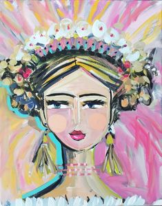 "Warrior Girl Print woman art impressionist modern abstract girl paper or canvas ""Joy"" by Marendevineart on Etsy Bohemian Art, Warrior Girl, Abstract Wall Art, Abstract Faces, Art Forms, Female Art, Bunt, Cool Art, Original Art"
