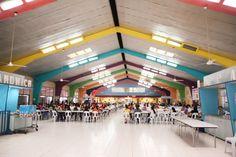 spacious canteen at school interior design