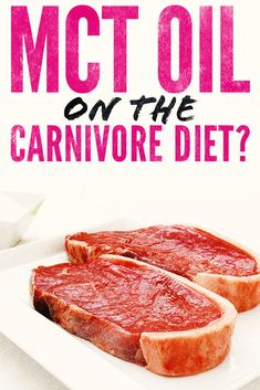 A lot people on the ketogenic diet take MCT oil but is it appropriate for the carnivore diet? We give you the surprising pros and cons in our article on Wild Lumens. Zero Carb Diet, No Carb Diets, Low Carb Recipes, Diet Recipes, Diet Tips, Meat Diet, Easy Diets, Diets For Beginners, Food Industry
