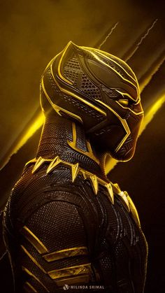 Marvel - Black Panther in Yellow Black Panther Marvel, Black Panther Art, Marvel Vs, Marvel Dc Comics, Marvel Heroes, Marvel Fight, Marvel Characters, Marvel Movies, Best Marvel Villains