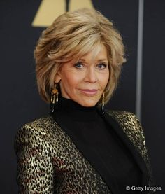 Jane Fonda Hair Jane Fonda glows at Grace and Frankie premiere! Jane Fonda Hairstyles, 2015 Hairstyles, Casual Hairstyles, Celebrity Hairstyles, Braided Hairstyles, Wedding Hairstyles, Hair Styles 2016, Medium Hair Styles, Curly Hair Styles