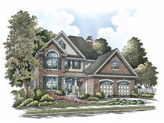 Home Plan HOMEPW07888 is a gorgeous 2506 sq ft, 2 story, 4 bedroom, 3 bathroom plan influenced by  New American  style architecture.