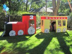 Cardboard train.. My kids wld love this