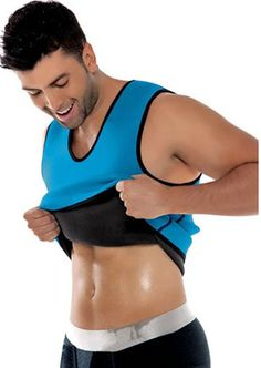 174b6f6858094 Niyatree Mens Body Shaper Vest AB Wear Hot Sweater Weight Loss Neoprene  Sauna Shirt Body Athletic Suit For Slimming Gray Size S     To view further  for this ...