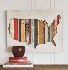 Pendleton Woolen Mills: USA MAP WALL ART