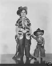 Shirley Temple in cowgirl outfit with baby doll child movie star 8x10 photo