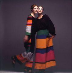 Photo by Barry Lategan 1971  Dress Mila Schön  Vogue Italia, March 1971