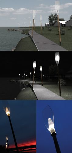 This #lighter is created to light up the #shore-path of riverside parts of the center of Pärnu city. The dome of the lamp is poured from PMMA, and the light source is a 35W #metallic dome which is installed into the module with shading lamels and a G12 socket. The #light #poles are installed at a slight angle giving each an artistic moving effect. #YankoDesign #Lighting