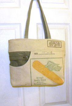 Vintage DeKalb Seed Corn bag upcycled by LoriesBags on Etsy
