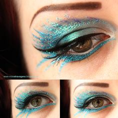 Blue Glitter Makeup by ~MissVonXtravaganz on deviantART