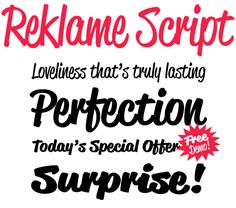 I looooove fonts inspired by the 1940's and 1950's. They makes me so happy!