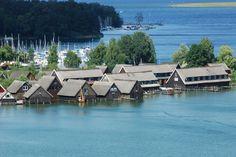 Bootshäuser von Röbel, Müritz #see #lake #boathouse
