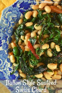 Sauteed Swiss Chard and Beans Recipe - These Old Cookbooks