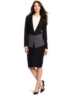 DKNYC Women`s Long Sleeve Cutaway Soft Suiting Jacket