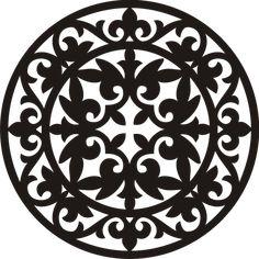 Казахский орнамент. Шаблоны.. Обсуждение на LiveInternet - Российский Сервис Онлайн-Дневников Islamic Art Pattern, Mandala Pattern, Pattern Art, Pattern Design, Stencils, 3d Laser, Stencil Designs, Metal Art, Paper Cutting