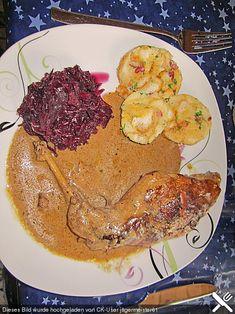 Kaninchen in Rotwein - Creme fraiche Sauce (Rezept mit Bild) | Chefkoch.de