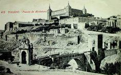 Postales antiguas de Toledo: Puente de Alcántara