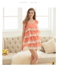 YummyDreams 2017 Pijama Lace Nightgown Women Sexy Spaghetti Strap Lingerie  Dress Leopard print Sleepwear One word ed35c8523