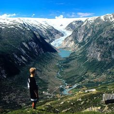 Briksdalsbreen – an Endangered Ice Wonder in Norway Scenery Pictures, Travel Pictures, Travel Photos, Places To Travel, Places To See, Beautiful Norway, Hiking Europe, Visit Norway, Norway Travel