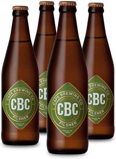 CBC PILSNER #CraftBeer #CapeBrewingCo Brewing Co, Craft Beer, Beer Bottle, Liquor, Clock, Branding, Drinks, Crafts, Root Beer
