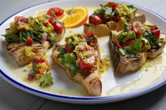 Here, a zesty citrus marinade and a creamy-crunchy salsa provide a one-two punch of flavor for swordfish steaks.