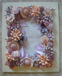 Quilled frame of flowers