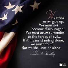 United we stand! Divided we fall. But I am not afraid to stand alone!