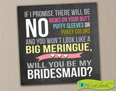 Will You Be My Bridesmaid Card Instant Download by EventPrintables