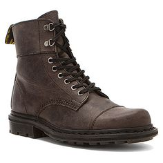 Dr Martens Gideon Fold Down Lace Boot Black Greenland