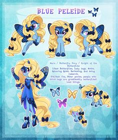 Blue Peleide - ultimate reference guide by LessaNamidairo on DeviantArt