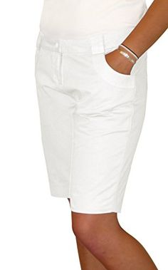 White Cotton Twill Bermuda Shorts with Curved Pockets * Read more @ http://www.amazon.com/gp/product/B00BRGO6EW/?tag=clothing8888-20&pjk=070816000510
