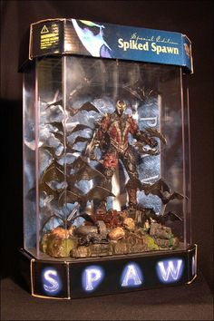 Spawn the Movie January 1998 SPIKED SPAWN IN DISPLAY CASE