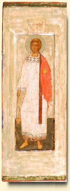 Saint Stefan - exhibited at the Temple Gallery, specialists in Russian icons