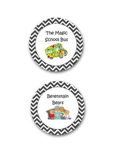 This is a 42-page PDF to help you organize and label your classroom library. I made this after realizing I couldn't find any that suited what I was looking for. I hope this is of use to you! They are cute, circular chevron labels.Included are:Amelia Bedelia, Arthur, Magic School Bus, Berenstain Bears, Clifford, Franklin, Froggy, Curious George, Click Clack Moo, Dinosaurs, Dinofours, Dr.