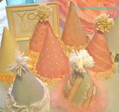 Girl birthday party hats