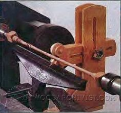 Thin-Turning Steady Rest Plans - Lathe Tips, Jigs and Fixtures | WoodArchivist.com
