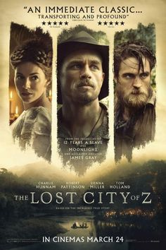 2h 21min | Starring Charlie Hunnam, Sienna Miller, Robert Pattinson, Tom Holland | Action, Adventure, Biography