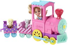 Barbie Chelsea Doll And Choo-choo Train is a top toy in our house, this is a toy our 5 year old loves! Club Chelsea, Chelsea Doll, Ken Doll, Mattel Barbie, Top Gifts, Best Gifts, Barbie Made To Move, Safari, Blue Roof