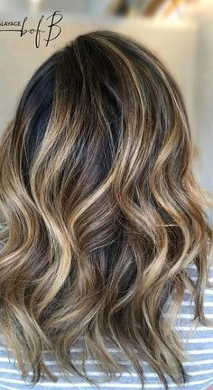 Blonde Balayage on a brunette base