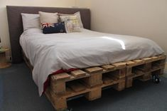 15 wunderschöne Betten aus alten Paletten, die Sie sprachlos machen werden - Seite 2 von 15 - DIY Bastelideen