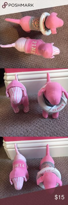 Victoria's Secret pink dogs Victoria's Secret pink dogs. Color a little faded but still cute accessories to a room PINK Victoria's Secret Other