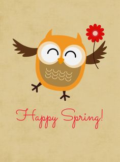 Welcome Spring very soon! {Free} Printables spring Welcome Spring w/Four Free Owl Digital Printables Happy Spring, Hello Spring, Life Planner, Happy Planner, Project Life Cards, Owl Crafts, Welcome Spring, Stock Image, Owl Art