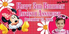 Birthday Tarpaulin Minnie Mouse Theme Template
