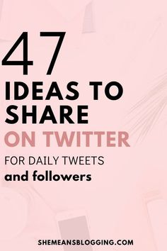 What to tweet on twitter? Check out these 47 twitter ideas to post on twitter to get engagement and more followers on twitter! Start using these social media engagement ideas on twitter and grow your following. Twitter tips. #twitter #socialmediamarketingtips #socialmediamarketing #socialmedia #bloggingtips Social Media Content, Social Media Tips, Social Media Marketing, Digital Marketing, Marketing Strategies, Inbound Marketing, Marketing Ideas, Email Marketing, Content Marketing