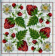 Strawberry cross stitch.