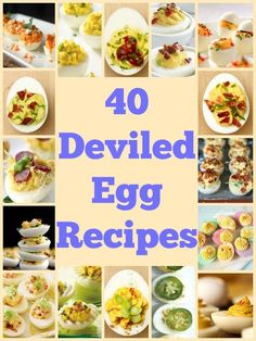 40 Deviled Egg Recipes Find the perfect deviled egg recipe for your upcoming bbq or potluck! Love me some deviled eggs Finger Food Appetizers, Appetizer Recipes, Snack Recipes, Cooking Recipes, Healthy Recipes, Crockpot Recipes, Breakfast Recipes, Vegetarian Recipes, Perfect Deviled Eggs
