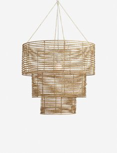 We love that the wrapped jute on this chandelier pendant offers soft, understated elegance. Perfect for a clean and neutral dining space. Young House Love, Shop Lighting, Chandelier Lighting, Chandeliers, Chandelier Ideas, Lighting Ideas, House Lighting, Pendant Lights, Coastal Light Fixtures